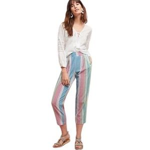 NWT Anthropologie The Odells Rainbow Striped Pants
